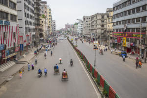 Corona lockdown in Dhaka